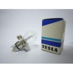 หลอดไฟหน้าฐานกลม TESLA R2 12V 75/75W